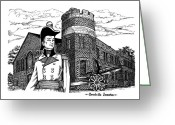 Ontario Mixed Media Greeting Cards - Brockville Armouries 2005 Greeting Card by John Cullen