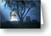 Graveyard Greeting Cards - Broken Angel  Greeting Card by Peter Piatt