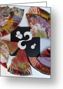 Color Reliefs Greeting Cards - Broken Plate Greeting Card by Ron Kandt