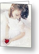 White Dress Greeting Cards - Broken Greeting Card by Stephanie Frey