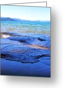Tahoe Greeting Cards - Broken Waves Greeting Card by Leah Moore
