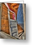 Ghost Town Greeting Cards - Broken Window Greeting Card by Peter Tellone