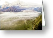 Volcanic Greeting Cards - Bromo Volcano Crater Greeting Card by Photography by Daniel Frauchiger, Switzerland