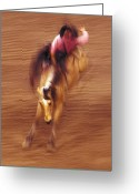 Bronc Greeting Cards - Bronc Rider 3 Greeting Card by Leland Howard