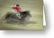 Bronc Greeting Cards - Bronc Riding 2 Greeting Card by Leland Howard