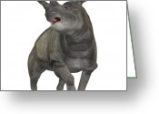 Beast Greeting Cards - Brontotherium Is A Rhinocerous-like Greeting Card by Corey Ford