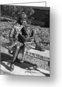 Flossmoor Greeting Cards - Bronzed But Bookish Greeting Card by Roy Kaelin