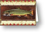 Lodge Greeting Cards - Brook Trout Lodge Greeting Card by JQ Licensing