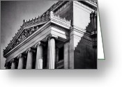Blackandwhite Greeting Cards - Brooklyn Beaux-arts Architecture Greeting Card by Natasha Marco