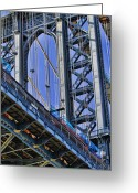 Interface Images Greeting Cards - Brooklyn Bridge close-up Greeting Card by David Smith