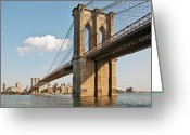 Manhattan Greeting Cards - Brooklyn Bridge Greeting Card by Phil Haber Photography