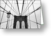 Suspension Bridge Greeting Cards - Brooklyn Bridge Greeting Card by Thank you for choosing my work.