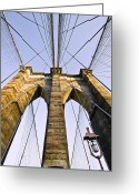 Midtown Greeting Cards - Brooklyn Bridge01 Greeting Card by Svetlana Sewell