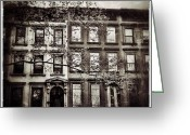 Navema Studios Greeting Cards - Brooklyn Brownstones Greeting Card by Natasha Marco