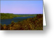 Indiana Autumn Greeting Cards - Brookville Lake Autumn Colors Greeting Card by Gary Wonning