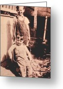 Overalls Greeting Cards - Brothers Greeting Card by Don Wolf