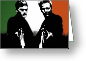Irish Greeting Cards - Brothers Killers and Saints Greeting Card by Dale Loos Jr
