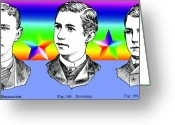 Outmoded Digital Art Greeting Cards - Brothers Three Greeting Card by Eric Edelman