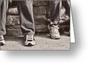 Sneakers Greeting Cards - Brothers Greeting Card by Tom Mc Nemar