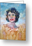 Patricia Taylor Greeting Cards - Brown Eyed Girl Greeting Card by Patricia Taylor