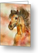 Contemporary Horse Digital Art Greeting Cards - Brownie Greeting Card by Darla Sikes