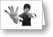 Bruce Lee Greeting Cards - Bruce Lee Greeting Card by Gabor Vida