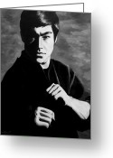 Bruce Lee Greeting Cards - Bruce Lee Greeting Card by Rick Ritchie
