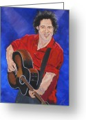 Springsteen Painting Greeting Cards - Bruce Springsteen-An American Boy Greeting Card by Bill Manson