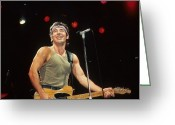 Born In The Usa Greeting Cards - Bruce Springsteen Greeting Card by Rich Fuscia