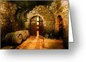 Wine Cellar Greeting Cards - Brunello Vecchio Greeting Card by John Galbo