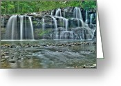 Swimming Hole Greeting Cards - Brush Creek Falls 3821 19 20 Greeting Card by Michael Peychich