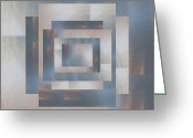 Rectangles Greeting Cards - Brushed 23 Greeting Card by Tim Allen