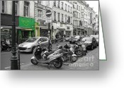 Reporting Greeting Cards - Bruxelles street Greeting Card by Yury Bashkin
