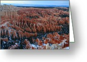 Thor Greeting Cards - Bryce Canyon Amphitheater at dusk Greeting Card by Pierre Leclerc