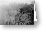 Utah Weather Greeting Cards - Bryce Canyon Fog Greeting Card by Mike Irwin