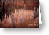Spires Greeting Cards - Bryce Canyon Hoodoos Greeting Card by Sandra Bronstein