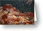 Point Park Greeting Cards - Bryce Canyon  Greeting Card by Jane Rix