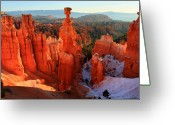Thor Photo Greeting Cards - Bryce Canyons Thors Hammer Greeting Card by Pierre Leclerc