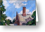 Thor Greeting Cards - Bryn Mawr Rooftops Greeting Card by Thor Wickstrom