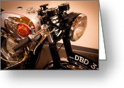 Birmingham Greeting Cards - BSA DBD34GS Goldstar Clubman Motorcycle Greeting Card by David Patterson