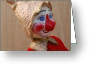 Fun Sculpture Greeting Cards - Bub - Profile Greeting Card by David Wiles
