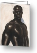 Man Pastels Greeting Cards - Bubba Lonzo Greeting Card by L Cooper