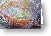 Impressionism Ceramics Greeting Cards - Bubble Boat Greeting Card by Kathleen Pio