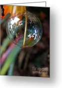 Cocoon Greeting Cards - Bubble Cocoon         Greeting Card by Kaye Menner