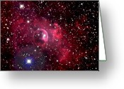 Astrophotography Greeting Cards - Bubble Nebula Greeting Card by Jim DeLillo
