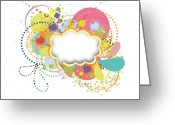 Aged Digital Art Greeting Cards - Bubble Speech Greeting Card by Setsiri Silapasuwanchai