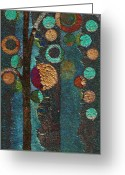 Abstract Realism Painting Greeting Cards - Bubble Tree - spc02bt05 - Right Greeting Card by Variance Collections