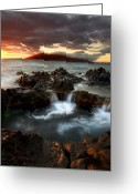 Seascape Greeting Cards - Bubbling Cauldron Greeting Card by Mike  Dawson