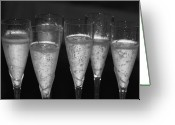 Black And White Greeting Cards - Bubbly II Greeting Card by Bonnes Eyes Fine Art Photography