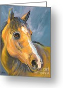 Buckskin Horse Greeting Cards - Buckskin Beauty Greeting Card by Susan A Becker